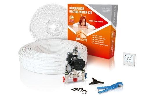 ProWarm Warm Water Standard Kit Covers 30m2 Neo White Thermostat