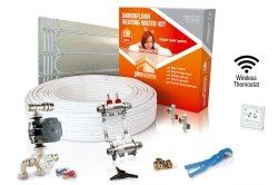ProWarm Low Profile Warm Water Kit 15m2 With Floating Floor Panels Neo White Thermostat With Hub Kit