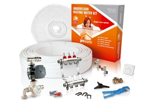 ProWarm Warm Water Standard Kit Covers 62m2 Manual Thermostat