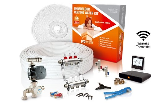 ProWarm Water Heating High Output Kit 60m2 Neo Black Thermostat With Hub Kit
