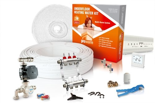 ProWarm Water Multiple Room Kit 3 Circuit 60m2 Neo White Thermostat With Hub Kit