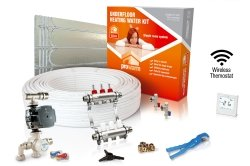 ProWarm Low Profile Warm Water Kit 25m2 With Floating Floor Panels Neo White Thermostat With Hub Kit