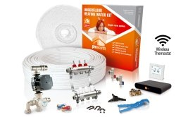 ProWarm Warm Water Standard Kit Covers 62m2 Neo White Thermostat With Hub Kit