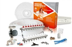 ProWarm Water Multiple Room Kit 9 Circuit 180m2 Manual Thermostat