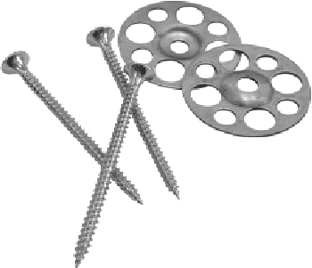 40mm Galvanised Washer & 45mm Screw (Pack of 50)