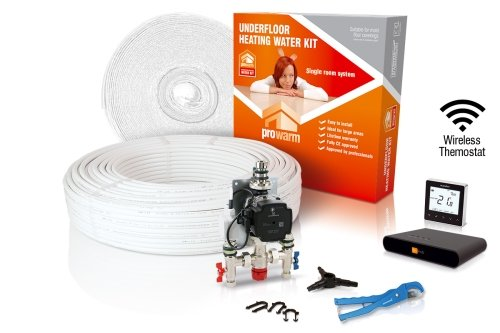 ProWarm Water Heating High Output Kit 14m2 Neo Black Thermostat With Hub Kit