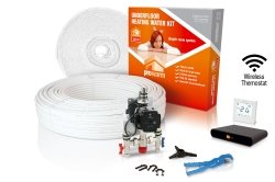 ProWarm Warm Water Standard Kit Covers 30m2 Neo White Thermostat With Hub Kit