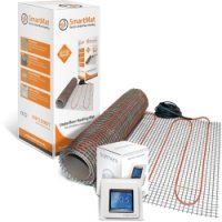 SmartMat 150w/m2 0.5m2 75w Underfloor Heating Kit + DEVIreg Touch Programmable Thermostat (Pure White)