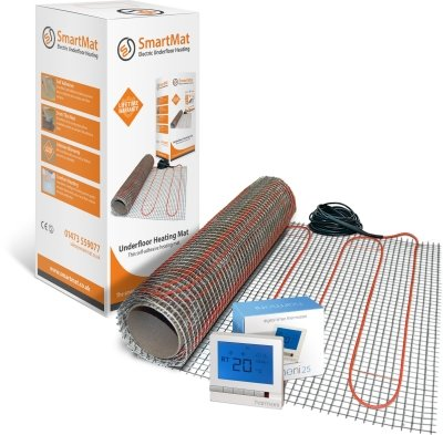 SmartMat 100w/m2 9.0m2 900w Underfloor Heating Kit + Harmoni 25 Thermostat