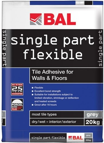 Bal Single Part Flexible Tile Adhesive White