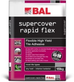 Bal Supercover Rapid Flex Adhesive Grey