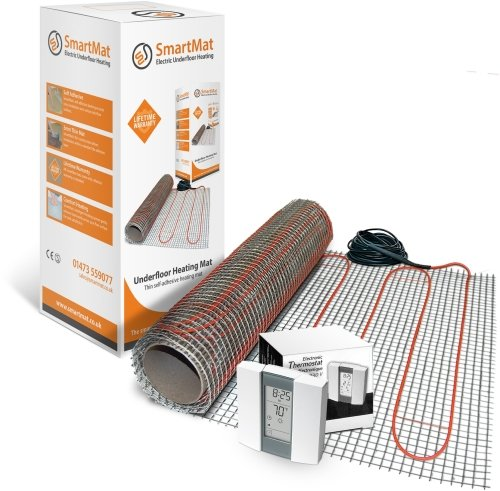 SmartMat 200w/m2 8.0m2 1600w Underfloor Heating Kit + Aube TH232 Thermostat