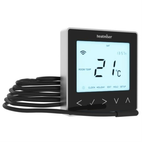 Heatmiser neoStat-e Electric Thermostat (Black) v2