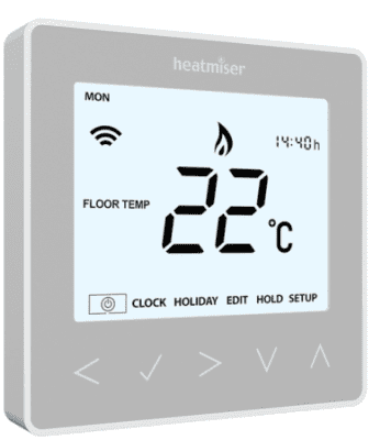 Heatmiser neoStat-e Electric Thermostat (Platinum Silver) V2
