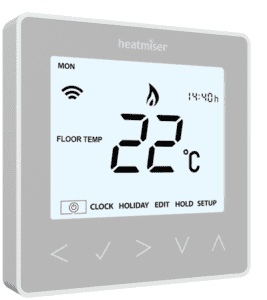 Heatmiser neoStat Programmable Thermostat Platinum Silver