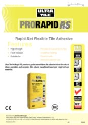 ProRapid RS Technical Data Sheet
