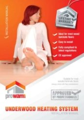 ProWarm Underwood Heating Installation Manual