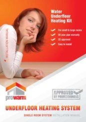 ProWarm Low Profile Warm Water Installation Manual