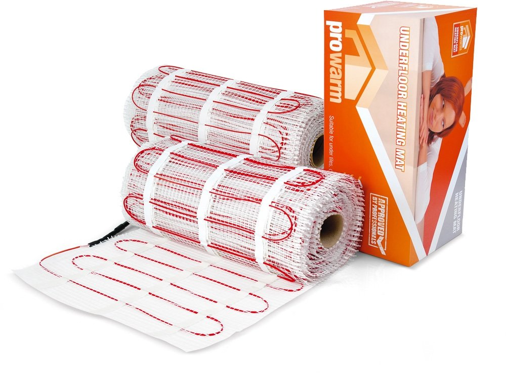 Mat Only No Thermostat Or Kit Prowarm Electric Underfloor Heating 200W Mat Kit 12.0M2