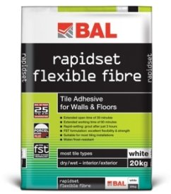 Bal Rapid Set Flexible Fibre Adhesive White