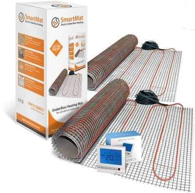 SmartMat 100w/m2 16.0m2 1600w Underfloor Heating Kit + Danfoss ECtemp Thermostat