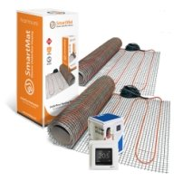 SmartMat 100w/m2 13.0m2 1300w Underfloor Heating Kit + DEVIreg Touch Programmable Thermostat (Pure White)