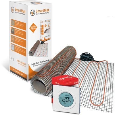 SmartMat 100w/m2 7.0m2 700w Underfloor Heating Kit + Danfoss ECtemp Thermostat