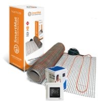 SmartMat 200w/m2 1.5m2 300w Underfloor Heating Kit + DEVIreg Touch Programmable Thermostat (Pure White)