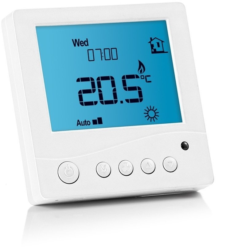 prowarm digital thermostat white remote control. Black Bedroom Furniture Sets. Home Design Ideas