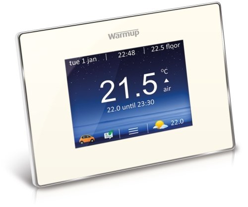 Warmup 4iE Touchscreen Smart Wi-Fi Thermostat - Bright Porcelain