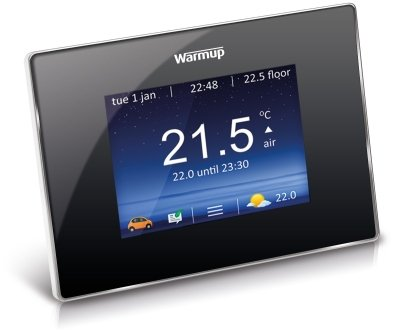 Warmup 4iE Touchscreen Smart Wi-Fi Thermostat (Onyx Black)